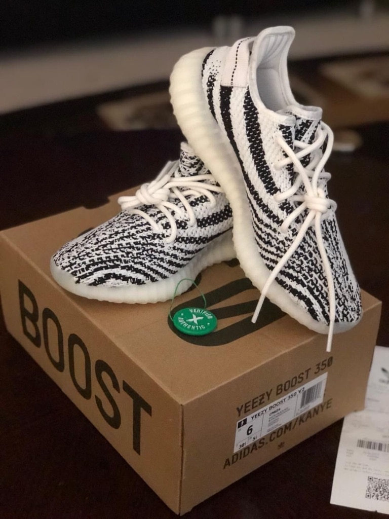 d57e6c03453 ... uk size 7 brand new with box perfect 50da4 5c6e0  usa pair of zebra  adidas yeezy boost 350 v2 with box 8d951 f33b8