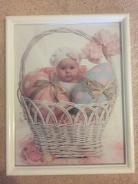 Framed baby collage for baby and toddlers room. Newton, 07860
