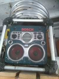 black and gray Bosch power tool