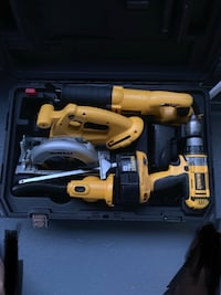 yellow and black DEWALT cordless power tool with case Menlo Park, 94025