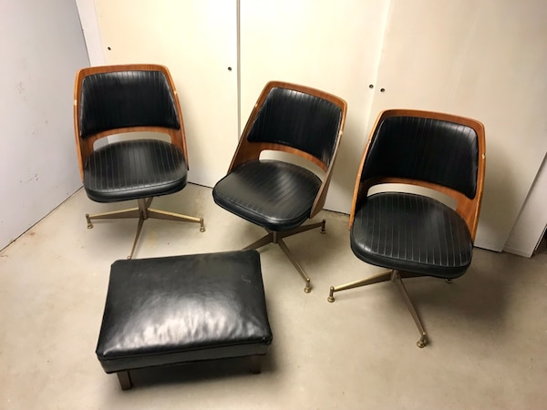 Admirable Mid Century B Brody Swivel Dining Chairs Gmtry Best Dining Table And Chair Ideas Images Gmtryco