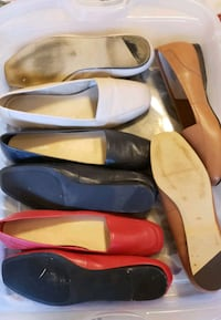 $20 for all 4 -Size 10 med width flat dress shoes