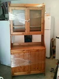 brown wooden cabinet with hutch Vancouver, V5R