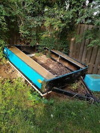 black and blue utility trailer Hamilton
