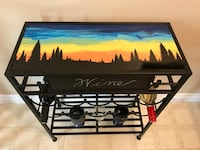 Wine Stand with Original Sunset Art  Delta, V4E 2Y2