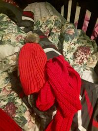 Red scarf and hat set College Park, 20740