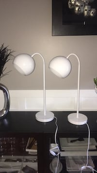 Two white and gray table lamps Bellevue, 98008