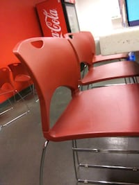 6 Red Bar chairs