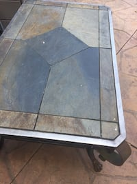 Black and gray slate with Iron frame table Perrysburg, 43551