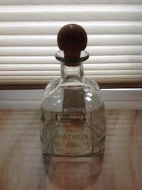 EMPTY ANEJO PATRON Tequila Glass Bottle with Cork Toronto, M6G