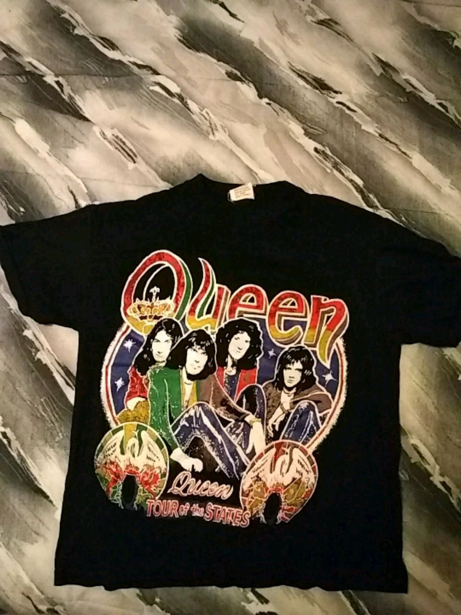 Offical 1980s vintage Queen tour of the states tee