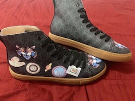 Gucci Louis Vuitton Dior high top sneakers