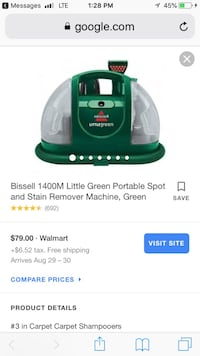 green and white Bissell upright vacuum cleaner screenshot Houston, 77063