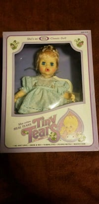 "Vintage 1982 ideal tiny tears 12"" doll purple Fairfax, 22030"