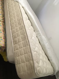 White and gray floral mattress Toronto, M4E 2J1