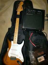 Squier strat by fender and silvertone amp Calgary, T3B 0M8