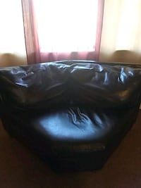 black leather tufted ottoman chair Granite City, 62040
