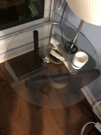 Two glass top side tables Toronto, M5A