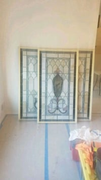 3 pieces stained glass panels  265 mi