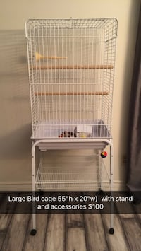 Bird Cage, stand and all accessories  New Tecumseth