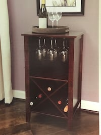 Brand new in box - Wine Storage Cabinet - black cherry wood finish Ashburn, 20148