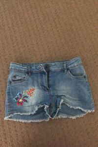 Denim Shorts With Flower Accents For Girls 14 Richmond Hill