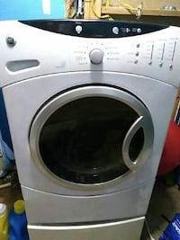 gray and white general electric front load washer Penitas, 78576