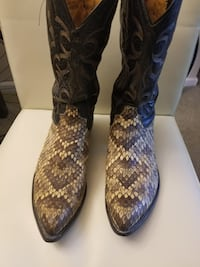One-Of-A-Kind  Tony Lama Eastern Diamondback Rattlesnake Boots  FAIROAKS