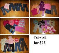 3T Girls Clothing Lot 2 (Take 36 Pieces for $45) Mississauga