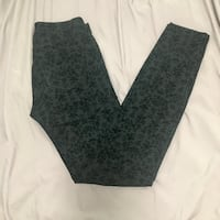 EUC Smart Set Black patterned Pants with Velvet - size 25 Vancouver, V5R 4X4