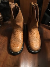 pair of brown cowboy boots 2041 mi