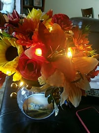 yellow and red artificial flowers Sterling, 20164