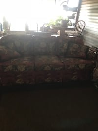 black and brown floral fabric 3-seat sofa Romance, 72136