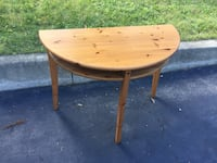 round brown wooden table with two chairs Oakville, L6L 2M7