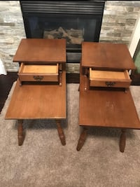 Two brown wooden side tables Airdrie, T4B 2X5