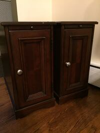 2 Solid Wood Cabinets