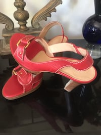 FRANCO SPARTO RED HEELED SANDALS