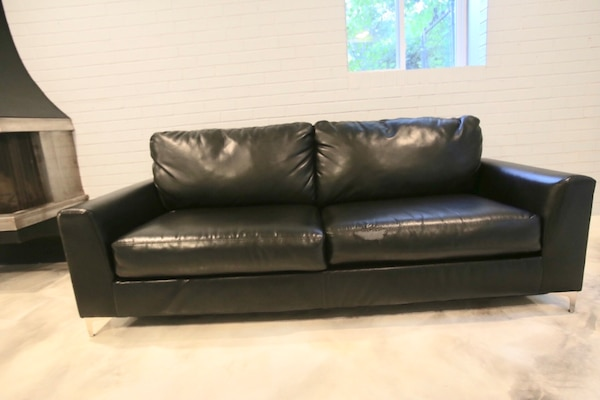 Leather look couch