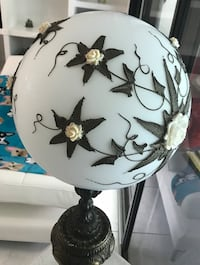 white and black floral table lamp Royal Palm Beach, 33411