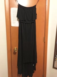 Black mullet maxi dress - strapless Harmar, 15024