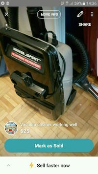 black and gray canister vacuum cleaner screenshot Montréal, H4A 2Z1