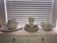 Like New French Ivory Fluted Dishes Frisco, 75034