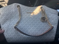 white and gray Michael Kors leather tote bag Berwyn Heights, 20740