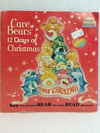 Vintage 1983 Care Bears 12 Days of Christmas Record Read-Along Book KidStuff Granger