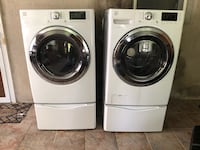 Two white front-load clothes washer and dryer set . Kenmore  Perth Amboy, 08861