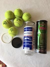 Two canisters of used tennis balls  Toronto, M2M 0B1