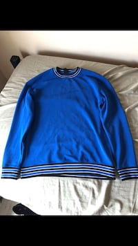 blue and white crew-neck sweatshirt Hampton, 23669