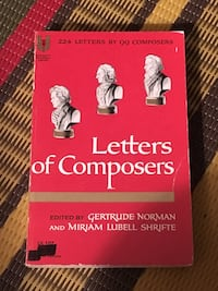 Letters of Composers music book Toronto, M2M