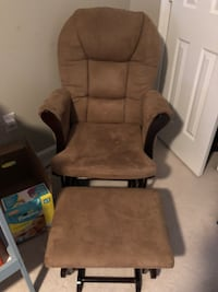 brown wooden framed brown padded glider chair Capitol Heights, 20743