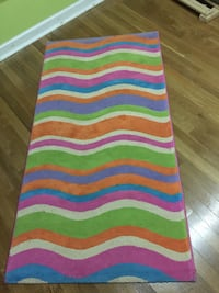 pink, green, purple, blue, and orange area rug North Haven, 06473